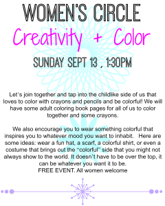 womens circle creativity + color sept 2015